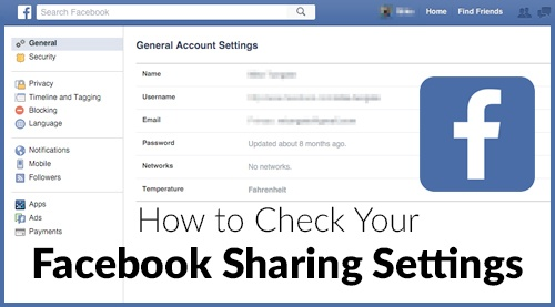 How to Check Your Facebook Sharing Settings